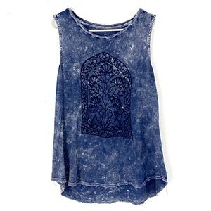 2/$20 Lucky Brand High Low Tie Dye Style Tank Top
